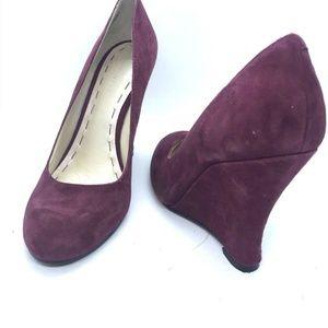 NINE WEST Shoe Size 5.5M Womens Wedge Purple